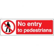 Prohibition safety sign - No Entry To 070